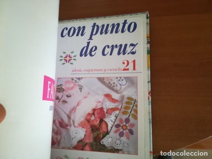 Coleccionismo Papel Varios: Colección Facílisimo con punto de cruz - Foto 3 - 197648583
