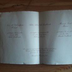 Outros artigos de papel: TARJETON BODA HIJAS PRESIDENTE AUDIENCIA BARCELONA FRANCISCO SANLLORENTE JUEZ HUELVA VENDRELL TERUEL. Lote 197741741