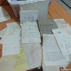 Coleccionismo Papel Varios: LOTE DE APUNTES ESCOLARES, CHULETAS Y LIBRETAS AÑOS 40-50. Lote 220494255