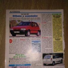 Coleccionismo Papel Varios: RECORTE PUBLICITARIO REVISTA FIAT UNO FIRE. Lote 199150316