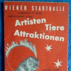 Coleccionismo Papel Varios: PROGRAMA DE CIRCO AUSTRIACO. WIENER STADTHALLE. 1960. Lote 199373561