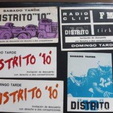 Collectionnisme Papier divers: FLYER DISCOTECA DISTRITO 10 VALENCIA RUTA BAKALAO. Lote 199481980