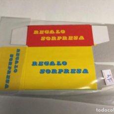 """Coleccionismo Papel Varios: CAJA SOBRE SORPRESA """" REGALO SORPRESA """" VACÍOS - (REF.14) . Lote 199628713"""