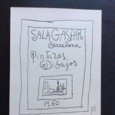 Coleccionismo Papel Varios: PICASS FELICITACIÓN NAVIDAD 1960 SALA GASPAR DE BARCELONA REPRODUCCIÓN OBRA FIRMADA PICASSO. Lote 199646536
