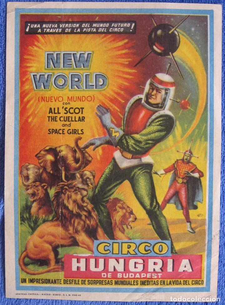 CIRCO HUNGRÍA DE BUDAPEST. PROGRAMA.1960 (Coleccionismo en Papel - Varios)