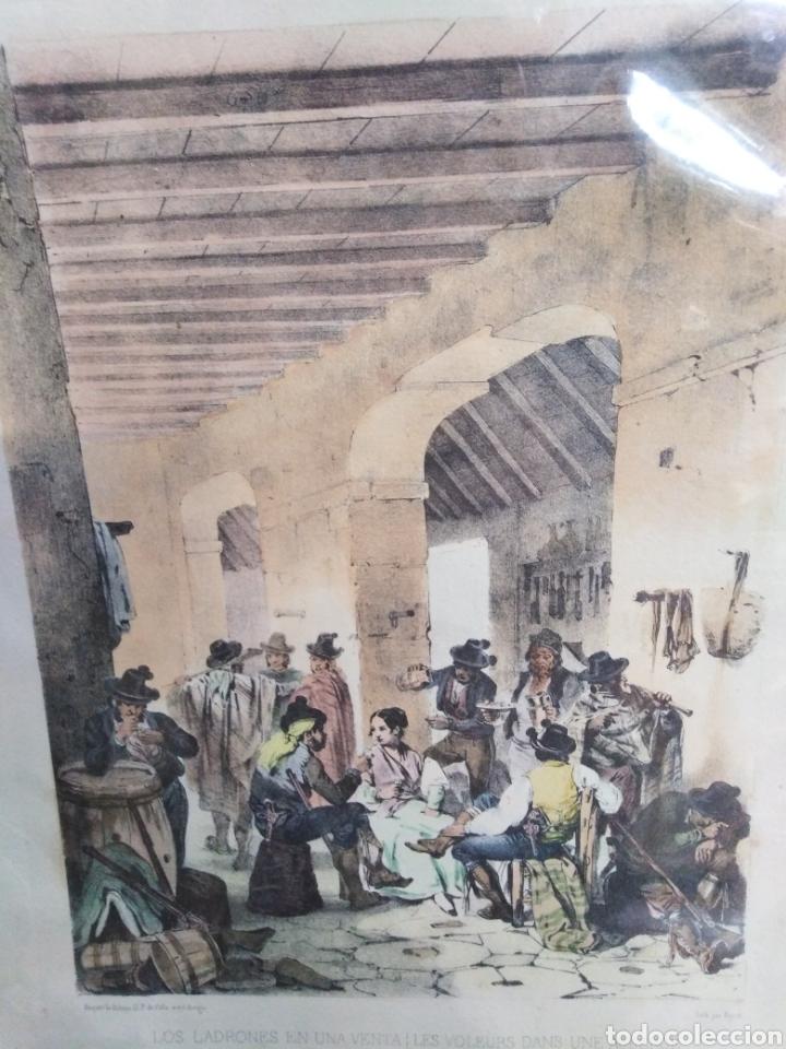 Coleccionismo Papel Varios: los ladrones en una venta-litografía original - Foto 2 - 200197460