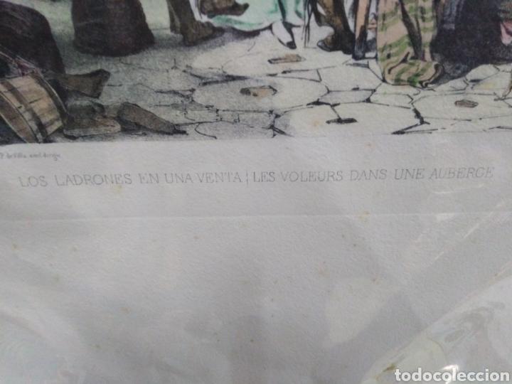 Coleccionismo Papel Varios: los ladrones en una venta-litografía original - Foto 3 - 200197460