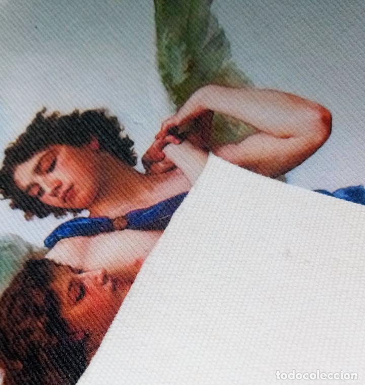 Coleccionismo Papel Varios: 2 piezas. Psique y Cupido CUADROS EN LIENZO – IMPRESO. - Foto 7 - 200391061