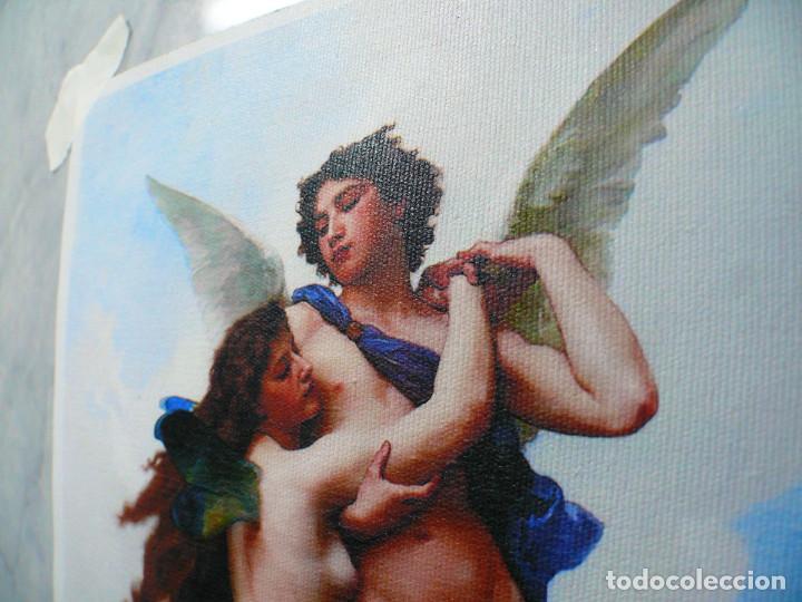 Coleccionismo Papel Varios: 2 piezas. Psique y Cupido CUADROS EN LIENZO – IMPRESO. - Foto 8 - 200391061