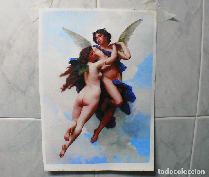 Coleccionismo Papel Varios: 2 piezas. Psique y Cupido CUADROS EN LIENZO – IMPRESO. - Foto 9 - 200391061