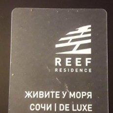 Coleccionismo Papel Varios: TARJETA REEF RESIDENCE RUSIA. PLÁSTICO TRANSPARENTE. Lote 200654010
