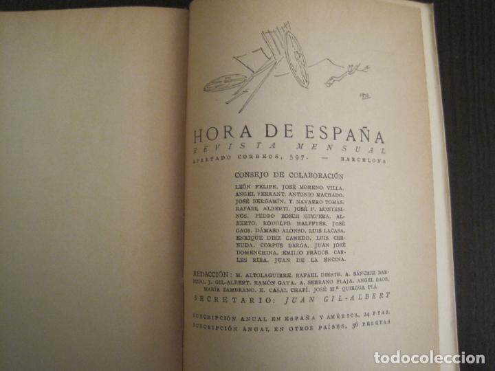 Coleccionismo Papel Varios: GUERRA CIVIL-HORA DE ESPAÑA-JUNIO 1938-REVISTA XVIII-ANTONIO MACHADO,CERNUDA...-VER FOTOS-(V-19.548) - Foto 14 - 201324091