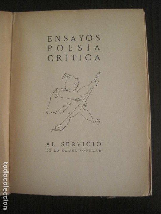 Coleccionismo Papel Varios: GUERRA CIVIL-HORA DE ESPAÑA-JULIO 1938-REVISTA XIX-ANTONIO MACHADO, UNAMUNO...-VER FOTOS-(V-19.549) - Foto 5 - 201324685
