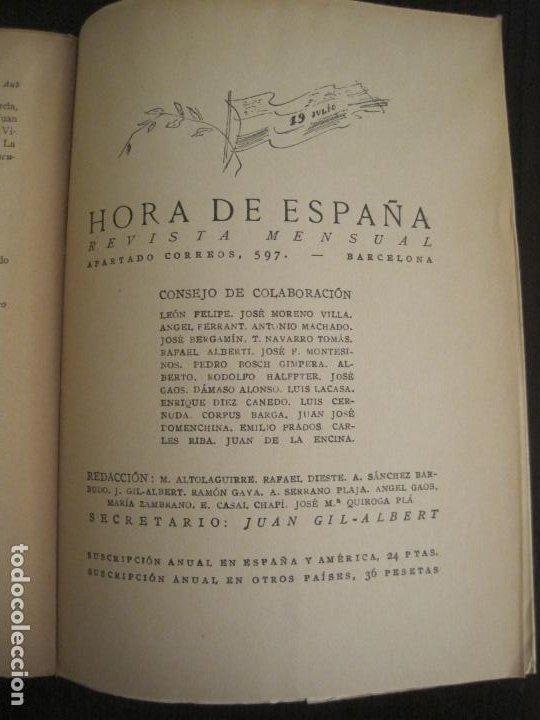 Coleccionismo Papel Varios: GUERRA CIVIL-HORA DE ESPAÑA-JULIO 1938-REVISTA XIX-ANTONIO MACHADO, UNAMUNO...-VER FOTOS-(V-19.549) - Foto 18 - 201324685