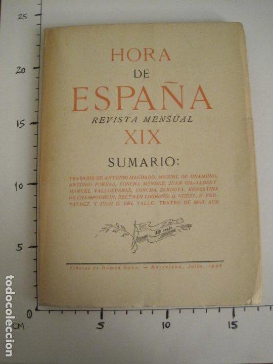 Coleccionismo Papel Varios: GUERRA CIVIL-HORA DE ESPAÑA-JULIO 1938-REVISTA XIX-ANTONIO MACHADO, UNAMUNO...-VER FOTOS-(V-19.549) - Foto 20 - 201324685