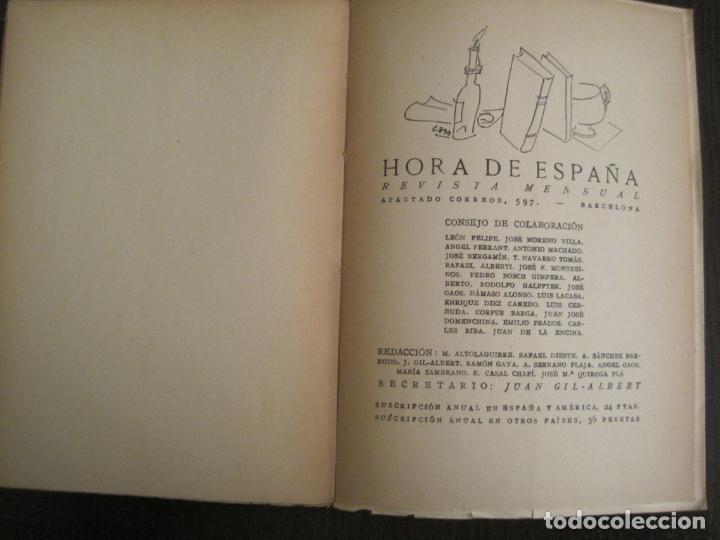 Coleccionismo Papel Varios: GUERRA CIVIL-HORA DE ESPAÑA-AGOSTO 1938-REVISTA XX-ANTONIO MACHADO, ZAMBRANO...-VER FOTOS-(V-19.550) - Foto 15 - 201325257