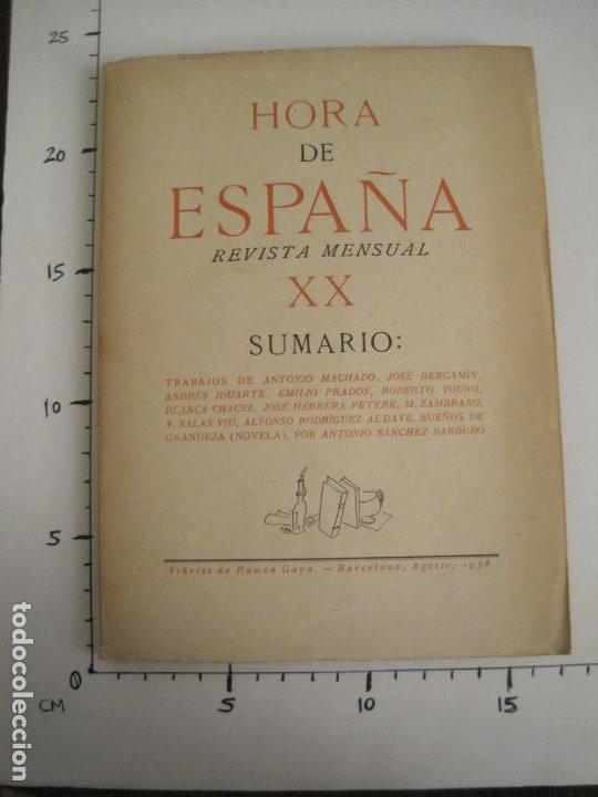 Coleccionismo Papel Varios: GUERRA CIVIL-HORA DE ESPAÑA-AGOSTO 1938-REVISTA XX-ANTONIO MACHADO, ZAMBRANO...-VER FOTOS-(V-19.550) - Foto 17 - 201325257