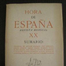 Coleccionismo Papel Varios: GUERRA CIVIL-HORA DE ESPAÑA-AGOSTO 1938-REVISTA XX-ANTONIO MACHADO, ZAMBRANO...-VER FOTOS-(V-19.550). Lote 201325257
