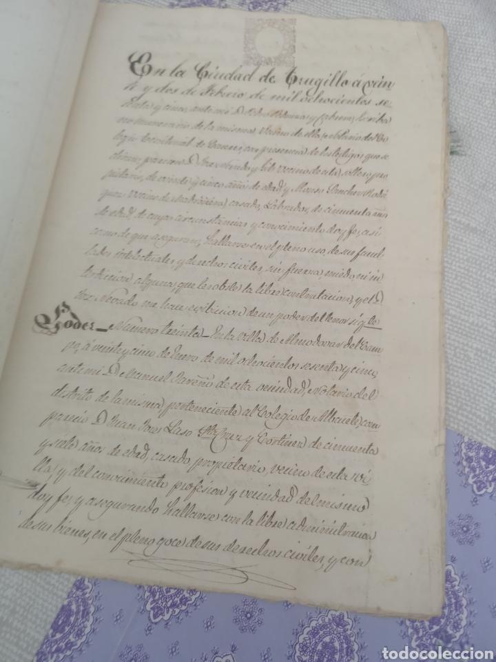 Coleccionismo Papel Varios: Escritura antigua de Trujillo Cáceres manuscritos 1865 - Foto 2 - 201861236