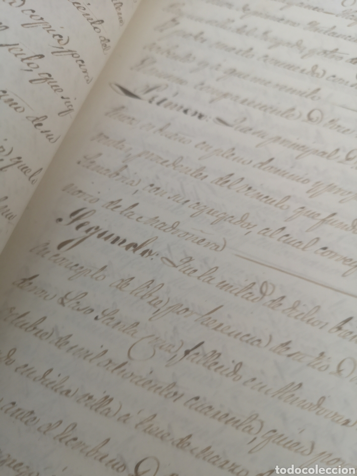 Coleccionismo Papel Varios: Escritura antigua de Trujillo Cáceres manuscritos 1865 - Foto 3 - 201861236