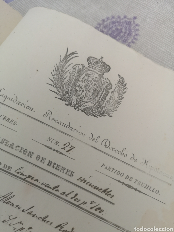 Coleccionismo Papel Varios: Escritura antigua de Trujillo Cáceres manuscritos 1865 - Foto 4 - 201861236