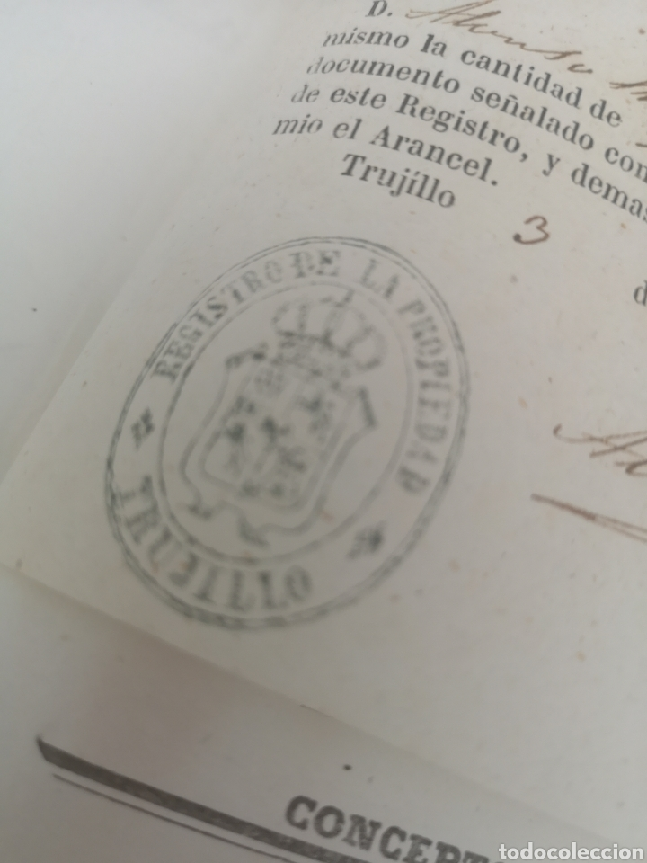 Coleccionismo Papel Varios: Escritura antigua de Trujillo Cáceres manuscritos 1865 - Foto 5 - 201861236
