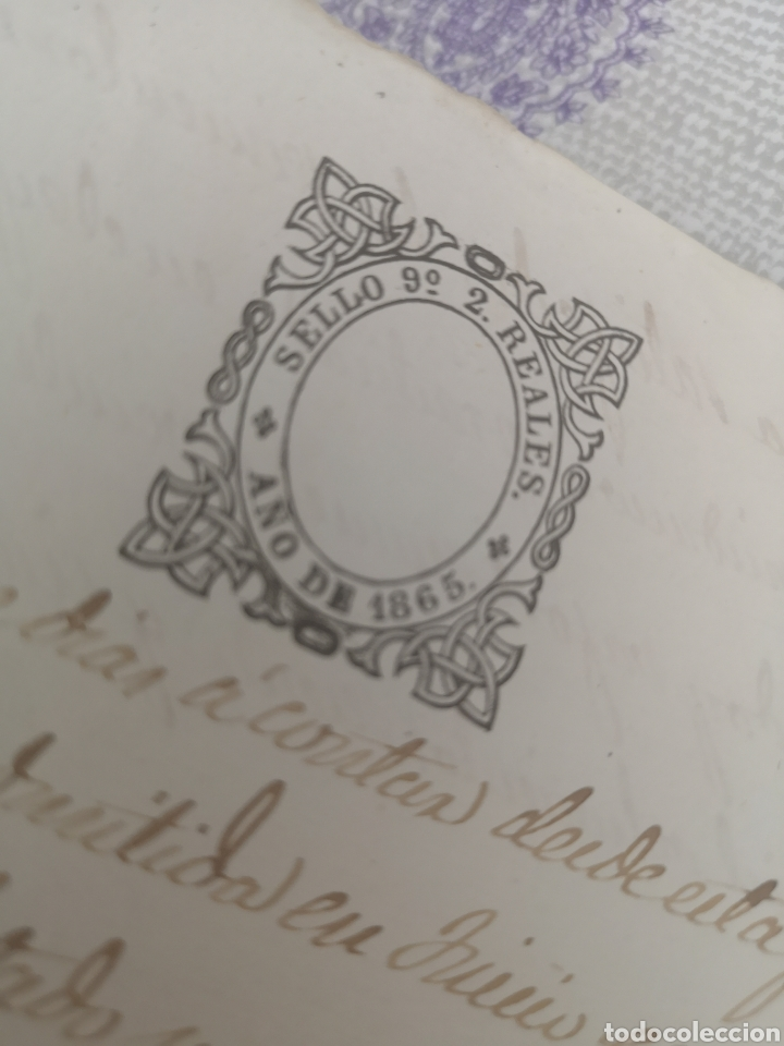 Coleccionismo Papel Varios: Escritura antigua de Trujillo Cáceres manuscritos 1865 - Foto 6 - 201861236