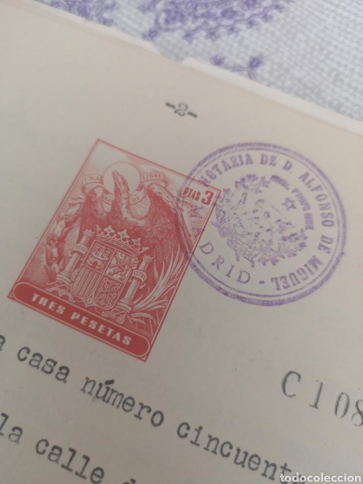 Coleccionismo Papel Varios: Copia de escritura con bonitos sellos Madrid 1963. - Foto 4 - 201861765
