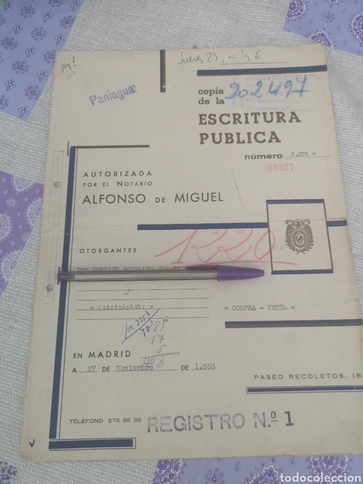 COPIA DE ESCRITURA CON BONITOS SELLOS MADRID 1963. (Coleccionismo en Papel - Varios)