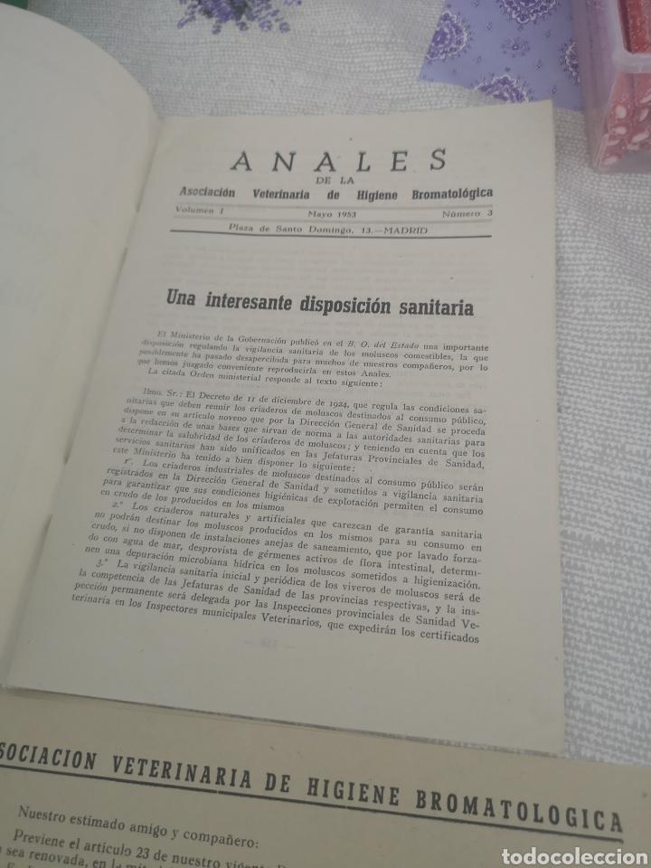 Coleccionismo Papel Varios: Anales de la asociación veterinaria de higiene bromatologica 1953. - Foto 2 - 201892406