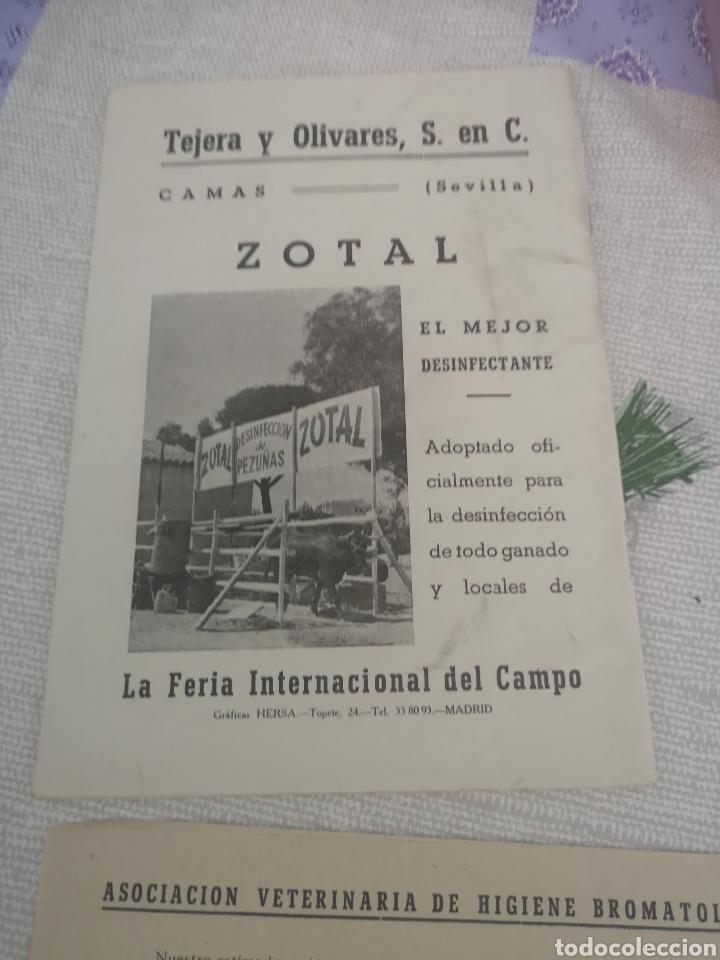 Coleccionismo Papel Varios: Anales de la asociación veterinaria de higiene bromatologica 1953. - Foto 5 - 201892406