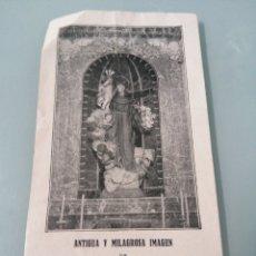 Coleccionismo Papel Varios: SAN ANTONIO DE PADUA. ANTIGUA Y MILAGROSA IMAGEN QUE SE VENERA EN LA PARROQUIA DE SU NOMBRE(FLORIDA). Lote 202075162