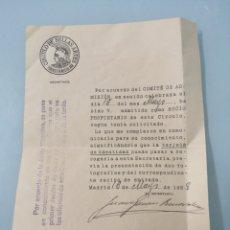 Coleccionismo Papel Varios: DOCUMENTO DE ADMISIÓN EN EL CIRCULO DE BELLAS ARTES DE MADRID. 1928. POR BAJA DE OTRO SOCIO.. Lote 202076633