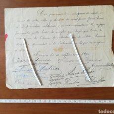 Coleccionismo Papel Varios: ACUERDO POZOS CONTRATO VECINOS 1930 AZAGRA NAVARRA LEER DESCRIPCIÓN MUCHAS FIRMAS... Lote 202251766