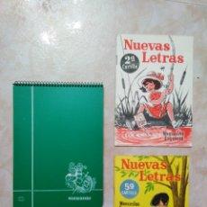 Coleccionismo Papel Varios: LOTE ANTIGUO MATERIAL ESCUELA ( 2 CARTILLAS + CUADERNO ). Lote 202347395