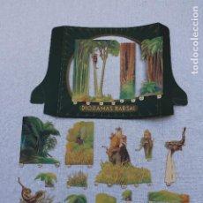 Coleccionismo Papel Varios: DIORAMA BARSAL Nº 6 - CAZA DEL TIGRE - COMPLETO. Lote 203321488