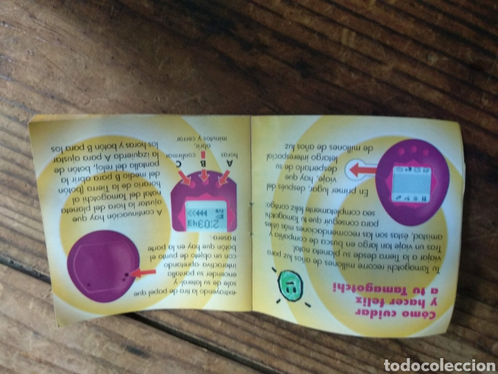 Coleccionismo Papel Varios: Instrucciones Tamagotchi Bandai - Foto 2 - 285396303