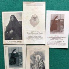 Coleccionismo Papel Varios: 5 RECORDATORIOS RELIGIOSAS. Lote 204174800