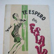 Coleccionismo Papel Varios: TE ESPERO EN ESLAVA-PROGRAMA ANTIGUO TEMPORADA 1959 1960-VER FOTOS-(V-20.123). Lote 204835303