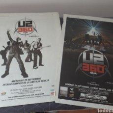 Coleccionismo Papel Varios: CARTEL CONCIERTO U2. 360 GRADOS TOUR.LA CARTUJA SEVILLA Y ESTADIO ANOETA.SAN SEBASTIAN.. Lote 205096287
