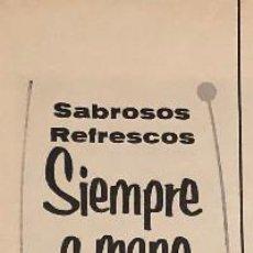 Coleccionismo Papel Varios: PUBLICIDAD DE PRENSA DE FRIGORÍFICO PORTÁTIL SERVELETTE. ORIGINAL AÑO 1954. 7 X 35 CM. BUEN ESTADO.. Lote 205123915