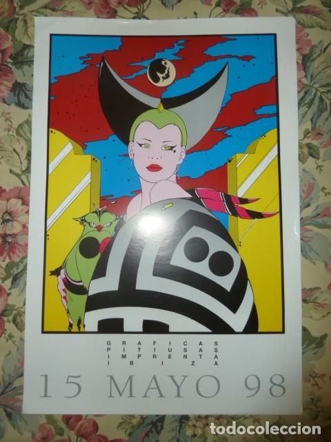 Coleccionismo Papel Varios: Poster Gráficas Pitiusas 15 Mayo 98. Yves Uro - Foto 2 - 213365928
