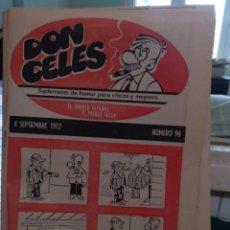 Coleccionismo Papel Varios: SUPLEMENTO DON CELES. 94, 1972. Lote 205584087