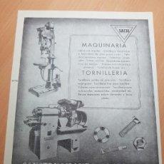 Coleccionismo Papel Varios: MAQUINARIA CONSTRUCCIONES SACIA PLASENCIA DE LAS ARMAS Y TRANSFORMADORES FIERRO SAN SEBASTIAN. Lote 205661996