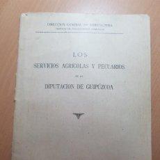 Coleccionismo Papel Varios: SERVICIOS AGRICOLAS Y PECUARIOS DE LA DIPUTACION DE GUIPUZCOA GRANJA FRAISORO SIDRERIA LECHERIA. Lote 205665861