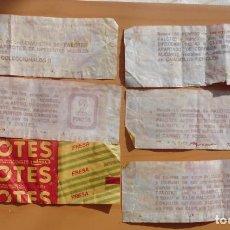 Coleccionismo Papel Varios: LOTE DE 6 ENVOLTORIO CON PUNTOS EN EL REVERSO ORIGINALES DAMEL PALOTES AÑOS 80. Lote 205785822