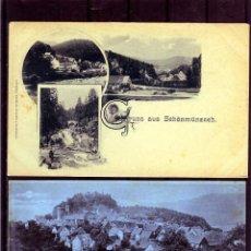 Coleccionismo Papel Varios: DOS TARJETAS POSTALES-GRUSS AUS-NUEVAS SIN CIRCULAR NI FRANQUEADAS .. Lote 206214812