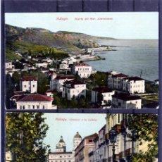 Outros artigos de papel: DOS TARJETAS POSTALES DE MALAGA-EDITADAS POR J.R.L.,CLICHES J.B.NUMERADAS-NUEVAS SIN CIRCULAR .. Lote 206216722