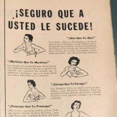 Coleccionismo Papel Varios: PUBLICIDAD DE PRENSA DE SUJETADORES EXQUISITE FORM. ORIGINAL AÑO 1954. 14 X 35 CM. BUEN ESTADO.. Lote 206288365