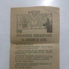 Coleccionismo Papel Varios: JACULATÓRIAS INDULGENCIADAS AL CORAZON DE JESUS. RAYOS DE SOL. NUM. 540. ED. EL MENSAJ. CORAZ.BILBAO. Lote 206288453